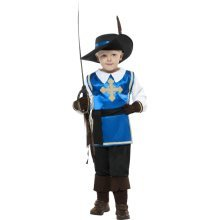 Smiffy's Children's Musketeer Child Costume, Top, Trousers, Hat And Gloves, -
