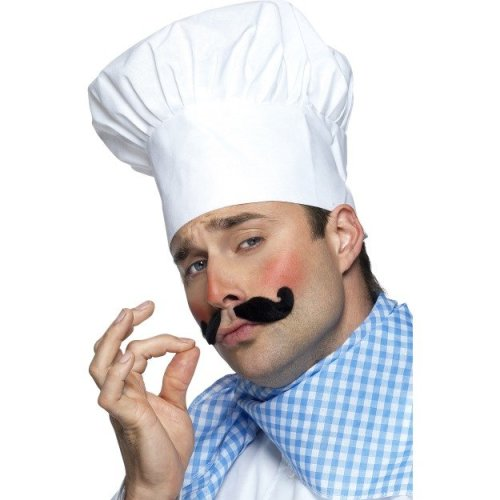 White Chef's Hat (fancy Dress) -  hat fancy dress chef mens chefs costume white cook