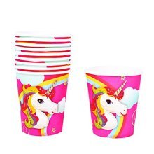 TRIXES Multicoloured 10PC Pack Unicorn Paper Cups