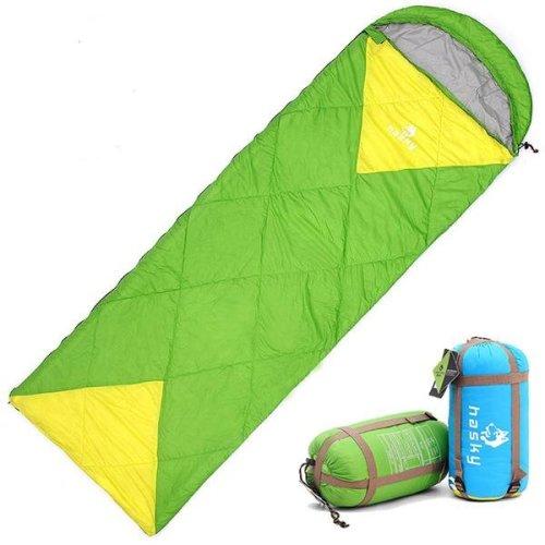 Outdoor Camping Hiking Envelope Sleeping Bag Folding Carrying Slumber Bag