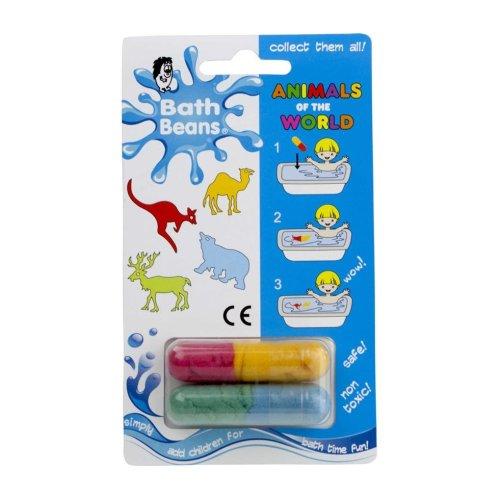 ANIMALS OF THE WORLD - Bath Beans Sponge Toy Capsules - Bath Time Fun