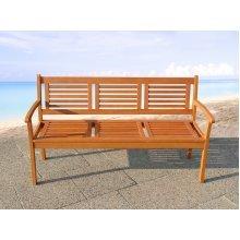 Garden Bench - 2 Seater - Outdoor Bench - Accacia Wood - TOSCANA