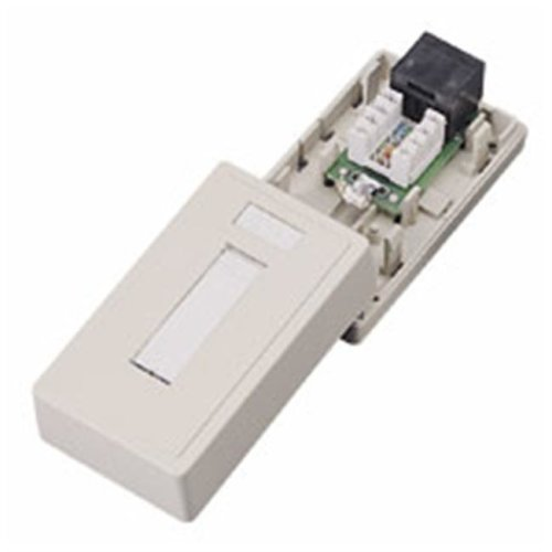 Cables To Go 03834 CAT 5E SURFACE MOUNT BOX 1-PORT IVORY