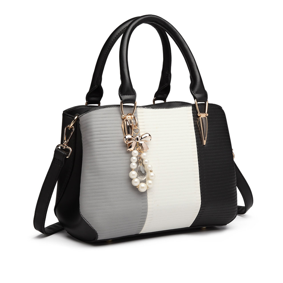 703ac7bdb4 ... Miss Lulu Women s Striped Colour Block Bag - 1 ...
