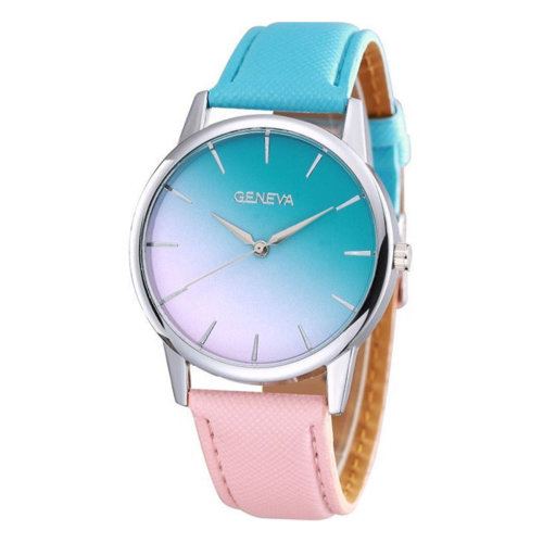 Geneva Blue & Pink Gradient Fashion Watch