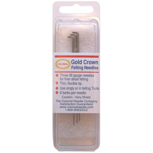 Colonial Gold Crown Felting Needles 3/Pkg-Size 38 Triangle