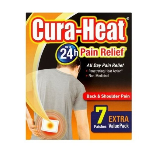 Cura Heat Back & Shoulder Pain 7 Patches