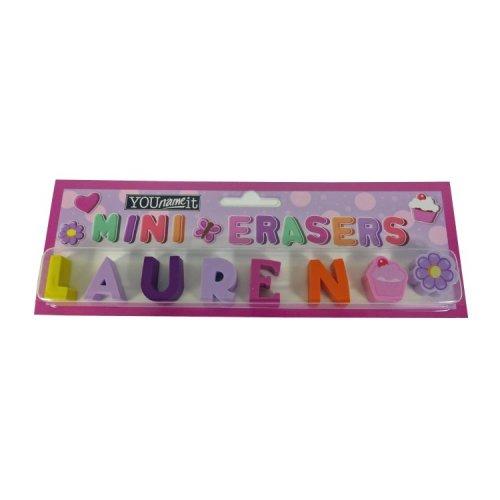 Childrens Mini Erasers - Lauren