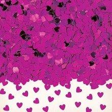 Sparkle Hearts Hot Pink Metallic Confetti 14g -