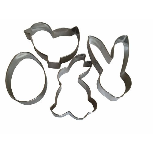 4 Stainless Steel Easter Cookie Cutter Bunny Egg Bunny Mould Cookie