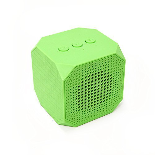 MQbix MQBK3010GRN MUSICUBE Wireless Portable Bluetooth Speaker with Built In Mic for Bluetooth Enabled Devices Green