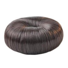 Ladies Long Hair Hairdressing Tool Hair Bun Maker Round Bun Donut,Natural Black