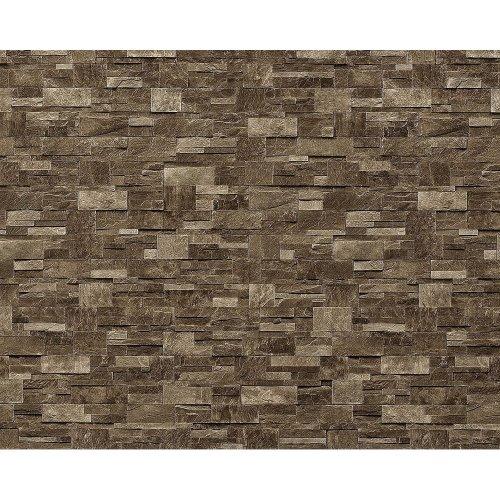 EDEM 918-35 wallpaper XXL non-woven textured stone decor brown gray | 10.65 sqm