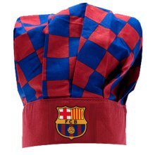 Barcelona Checked Chefs Hat - Fc Official Football Licensed Club Gift New -  barcelona chefs hat fc official football licensed club gift new