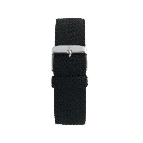Wallace Hume Caviar Black Men's Perlon Watch Strap