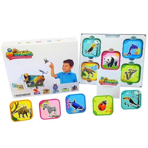 AR animal Children Educational Toy Learning Game. 100 Flash Cards