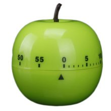 Mechanical Mini Adorable Kitchen Timer, Green Apple