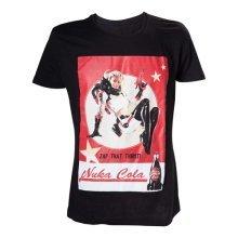 Fallout 4 Adult Male Nuka Cola 'Zap That Thirst!' T-Shirt, Medium, Black (Model No. TS201601FOT-M)