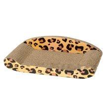 Leopard Grain Corrugated Paper Pet Toy--Cat Sofa Scratching Post(46.5*22.5*4CM)