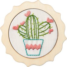 "Bucilla/My 1st Stitch Mini Stamped Embroidery Kit 4""-Stuck On You"