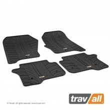 Travall Rubber Car Floor Mats [rhd] - Fiat Doblo (2010-) (4pcs+fix)