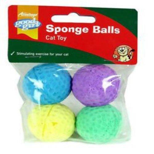 Good Girl Sponge Balls Cat Toy (12 x Pack Of 4)