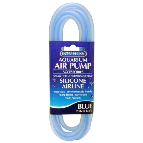 Aquarium Silicone Airline Tubing Blue 2m