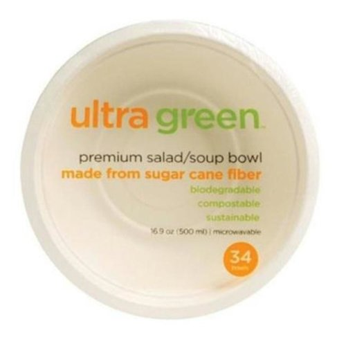 Compo BWA65865 Ultra Green All Purpose Bowl, 34 Count - Pack of 6