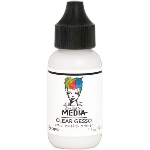 Dina Wakley Media Gesso 1oz Tube-Clear