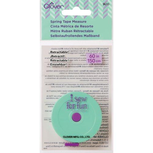 Clover I Sew For Fun Spring Tape Measure-Sew 4 Fun