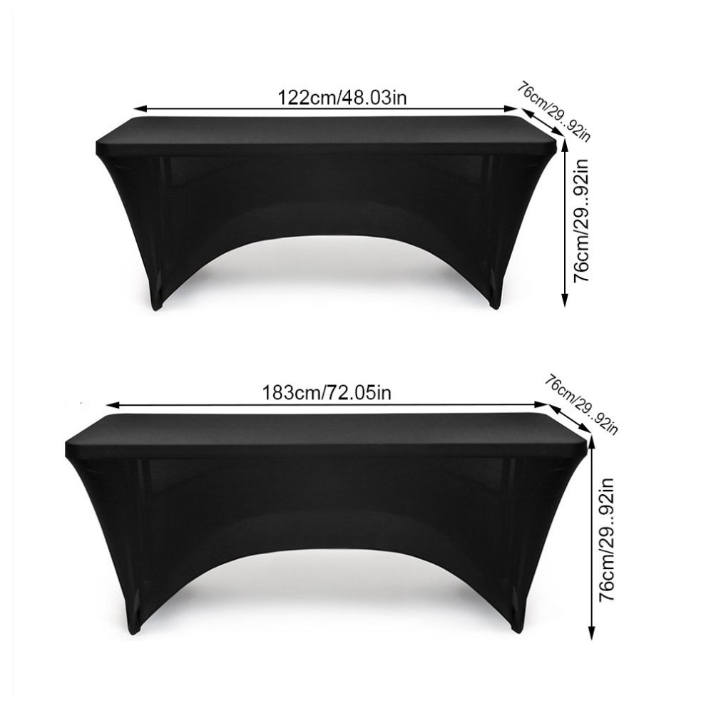 ... Spandex Table Cover Stretch Tablecloth 6ft Rectangular Fitted Wedding Banquet Trestle Table Black (183CM) ...  sc 1 st  OnBuy & Spandex Table Cover Stretch Tablecloth 6ft Rectangular Fitted ...