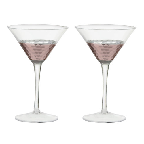 Artland Set of 2 Coppertino Martini Glasses