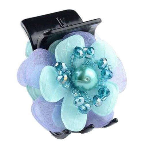 [Green] Pretty Flower Fabric Hair Claws Hair Barrettes Claw Clips