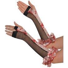 Halloween Circus Adult Fingerless Gloves -