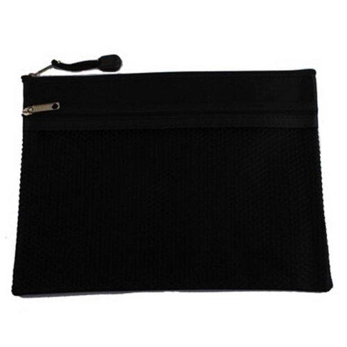 Set Of 3 Black Canvas Bag Zipper Bags Briefcase Office Supplies Folders Package