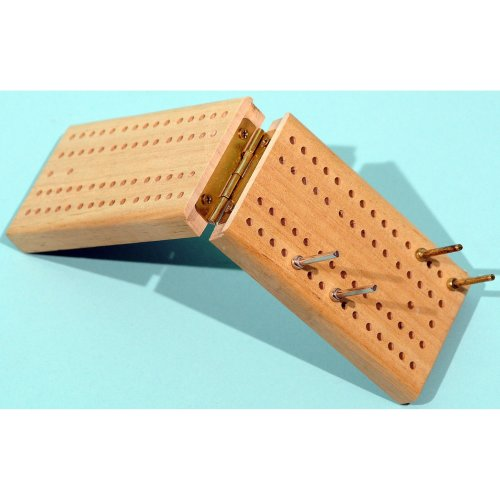 Folding wood cribbage  board 00180