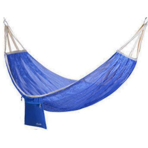 Single Person Ice Silk Hammock Outdoor Leisure Hammocks 125*190 CM Blue