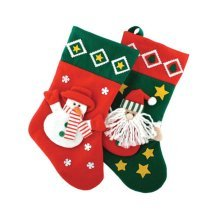 Seasons Greetings 3d Snowman & Santa Stockings -  seasons greetings 3d snowman santa stockings