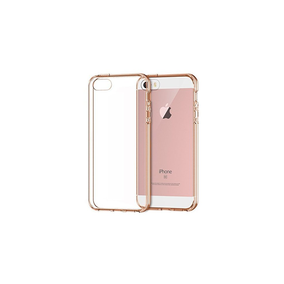 save off 74768 edfc5 JETech Case for Apple iPhone SE, iPhone 5s, and iPhone 5, Shock-Absorption  Bumper Cover, Anti-Scratch Clear Back, Rose Gold