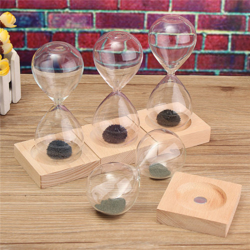 Hand-blown Glass Sand Magnet Magnetic Hourglass Timer Clock Gift Home Decor