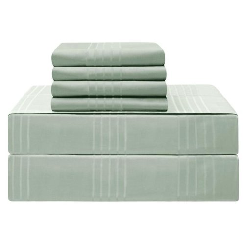 Jean Pierre YMS008237 Premium 420 Thread Count 100 Percent Cotton Sheet Set, Aqua - California King - 6 Piece