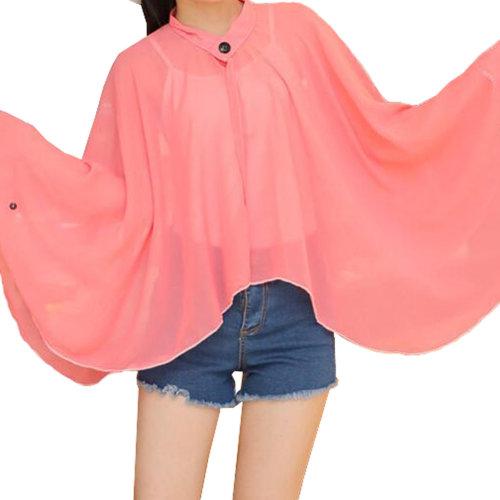 Sun Protective Clothing - Summer Chiffon Shawl Beach Coats Jackets#02