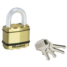 Master Lock Padlock Excell Solid Brass 52 mm M5BEURD