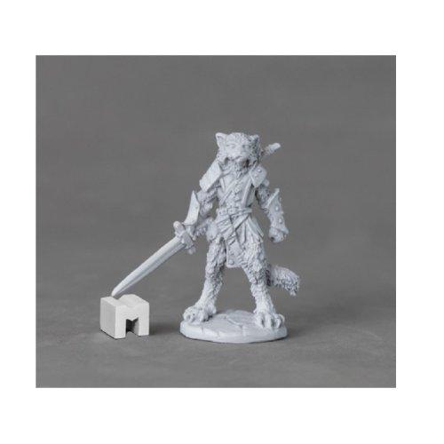 Reaper Miniatures Dark Heaven Legends 03893 Mal Catfolk Warrior