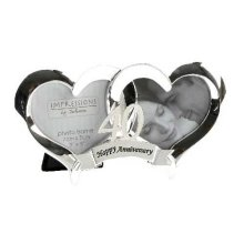 Happy 40th Anniversary entwined Heart photo frame by Impressions by Juliana