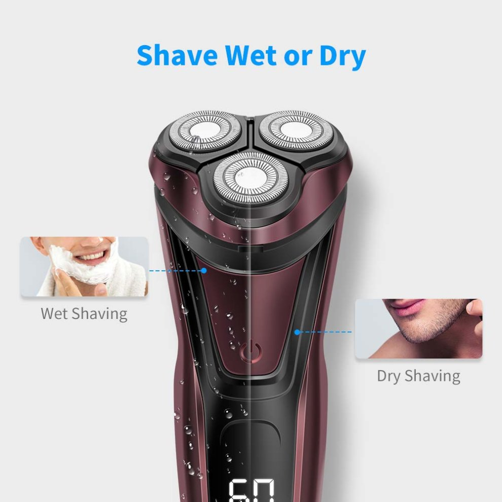 Electric Shavers Men Electric Razors Shaving Wet And Dry Rotary