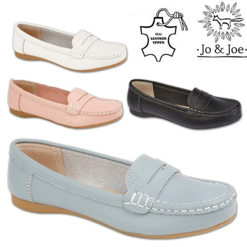 b75dd2090ae Ladies Tropez Leather Moccasin Shoes on OnBuy