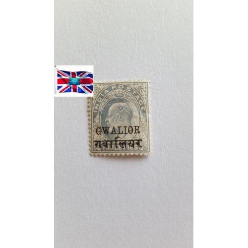 "India 1902 "" King Edward VII - Definitives (1902-09)"" 3 Indian pie"