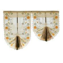 Cafe Curtain Window Valance/Romantic Curtain, Pumpkin(175*83 cm)