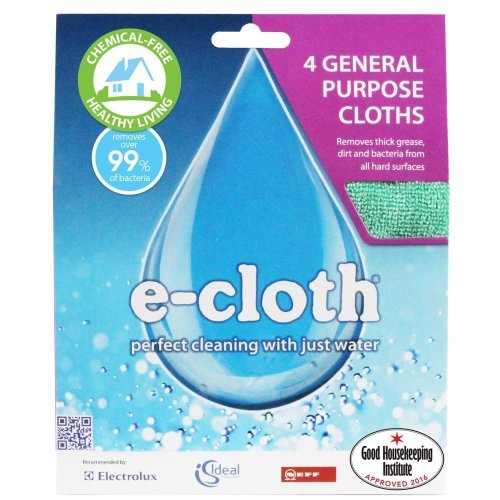 4 x e-Cloth General Purpose Cloths - Kitchen Home Micro Fibre Cleaning & Drying